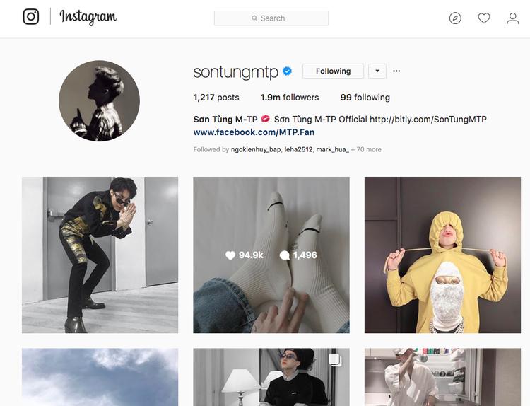 Trong khi đó, Instagram của nam ca sĩ vẫn hoạt động bình thường.