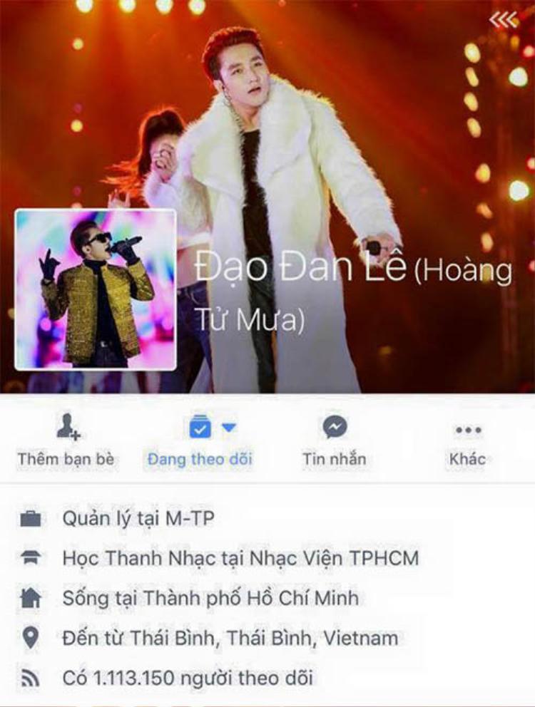 Facebook cá nhân Sơn Tùng từng bị hack trước đó.
