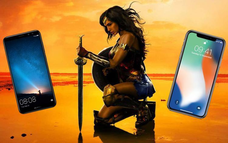 """Nữ diễn viên Wonder Woman chắc chắn sẽ phải cẩn trọng trước khi Huawei cảm thấy """"nóng mặt"""" hơn."""