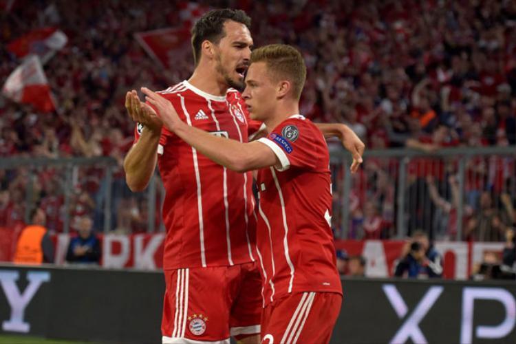 Bayern có lợi thế dẫn bàn từ phút 28.