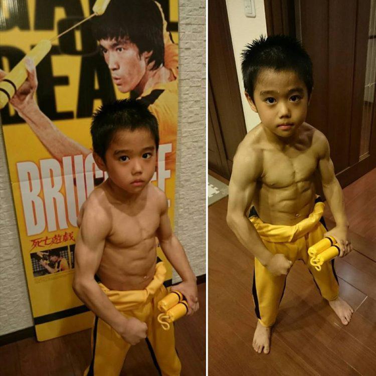 Cậu bé được mệnh danh là Lý Tiểu Long phiên bản nhí. Ảnh: Facebook
