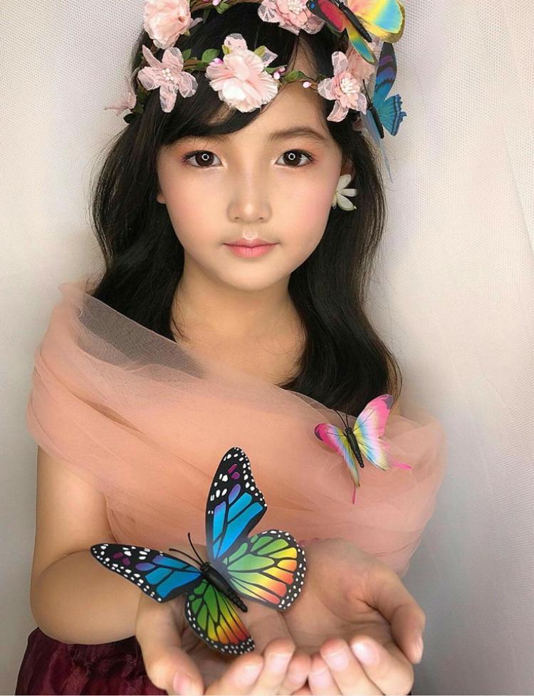 """Cô bé có vẻ đẹp giống người Thái Lan khiến bao người """"đặt gạch"""" làm em rể với chủ nhân bức ảnh. Ảnh: Thơm Nim."""