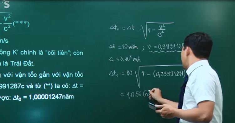 Áp dụng công thức từ Thuyết tương đối hẹp của Anhxtanh cho thấy lý giải khoa học khá trùng khớp với câu chuyện của ông cha.