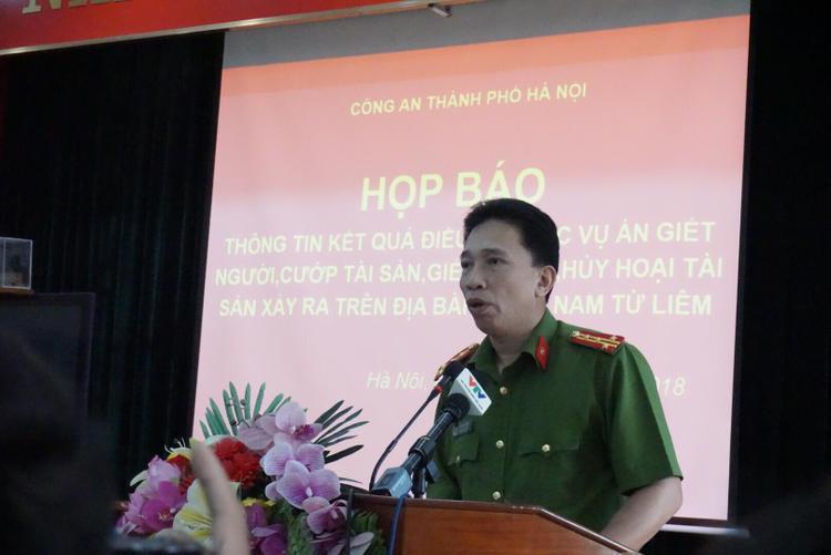 Đại tá Lê Đình Thành, Trưởng Công a quận Nam Từ Liêm thông tin vụ án.