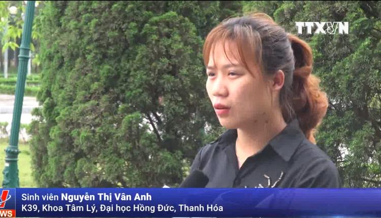 """Bạn Nguyễn Thị Vân Anh, K39, khoa Tâm lý, ĐH Hồng Đức từng trở thành """"con mồi"""" của hội thánh."""