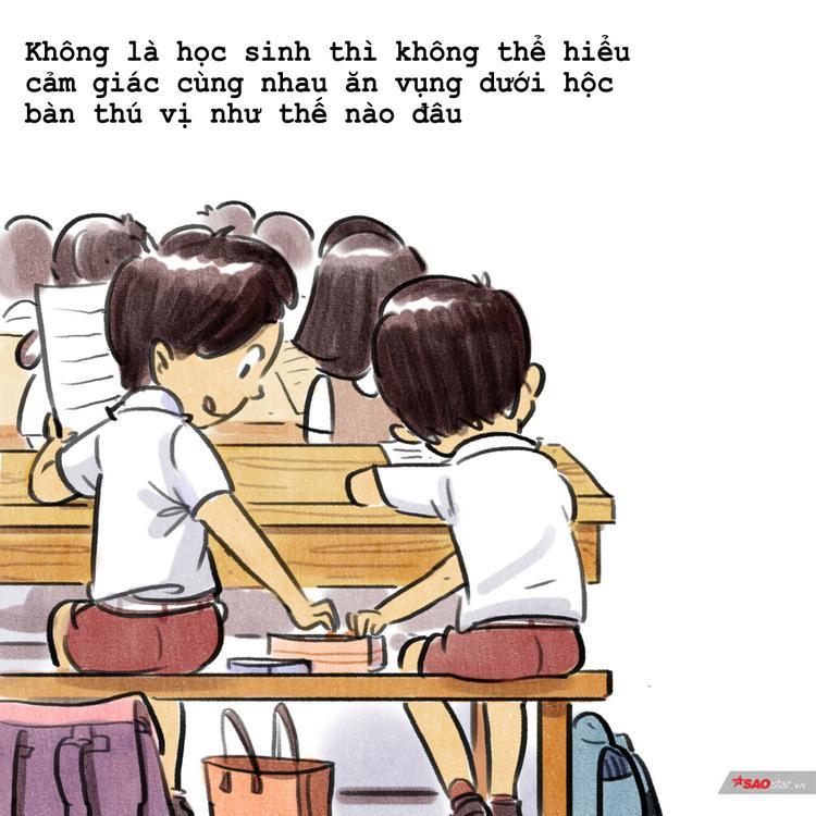 Cả thời thanh xuân bỗng ùa về khi xem bộ tranh dễ thương về thời học sinh này