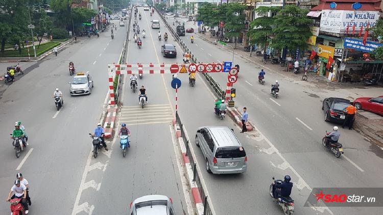 Cầu vượt Thái Hà thông thoáng trong ngày đầu tiên trong dịp nghỉ lễ 30/4 và 1/5.