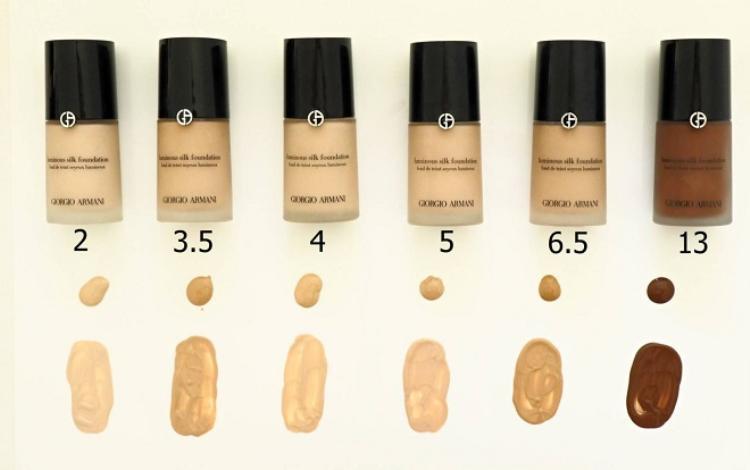 Giorgio Armani Luminous Silk Foundation có tới 24 tông màu đảm bảo phù hợp với nhiều sắc tố da
