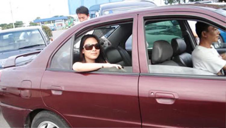 Chiếc Mitsubishi màu đỏ mà Mỹ Tâm gắn bó trong những năm đầu của sự nghiệp hoạt động nghệ thuật.