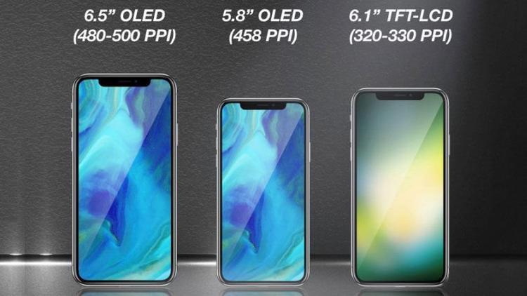 Năm 2018, Apple có thể sẽ trình làng ba phiên bản iPhone: màn hình OLED 5,8 inch, màn hình OLED 6,5 inch và màn hình LCD 6,1 inch. Trong đó, chiếc iPhone với màn hình LCD có giá thấp nhất.