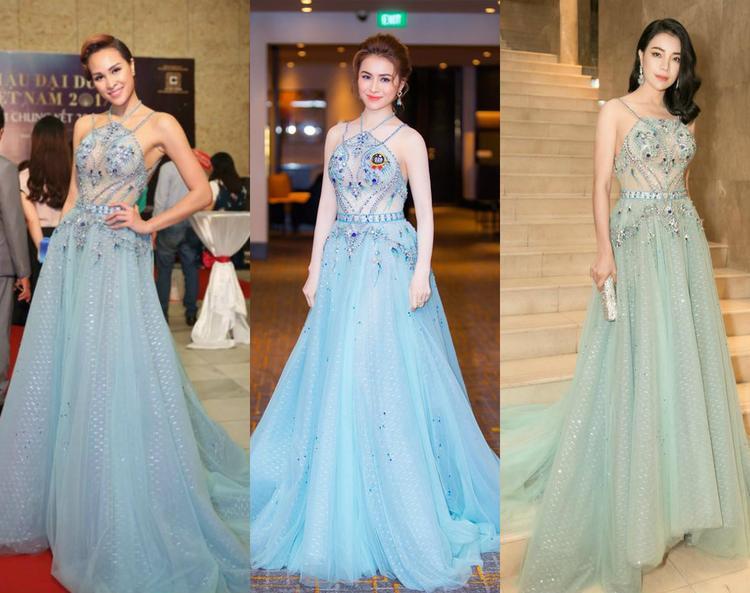 Siêu mẫu Phương Mai và Trà Ngọc là hai người đẹp tiếp theo nằm trong danh sách đụng hàng với Thư Dung.