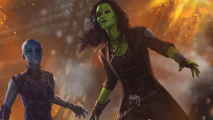 """Gamora đem bí mật """"động trời"""" kể cho em gái Nebula nghe."""