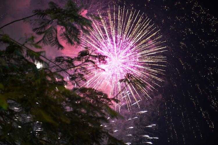 Ngoài khu vực nóc Hầm vượt sông Sài Gòn được bắn pháo hoa tầm cao, tại Công viên Văn hóa Đầm Sen (quận 11) cũng có những màn trình diễn pháo hoa tầm thấp. Ảnh: Zing.vn