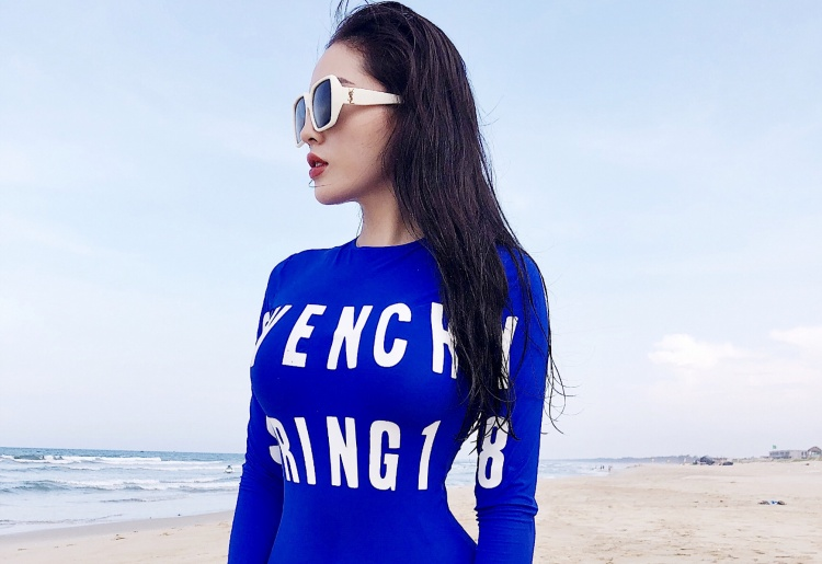"""Hiện tại Kỳ Duyên đang được xem là nàng """"IT Girl"""" vô cùng nổi bật của làng mốt Việt, cô liên tục trở thành vedette trên mọi sàn diễn thời trang."""