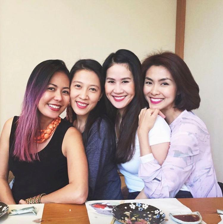 Hội bạn thân của vợ Phạm Anh Khoa gồm Tăng Thanh Hà, Thân Thuý Hà và Bùi Việt Hà.