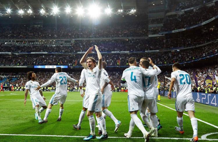 Niềm vui của các cầu thủ Real.