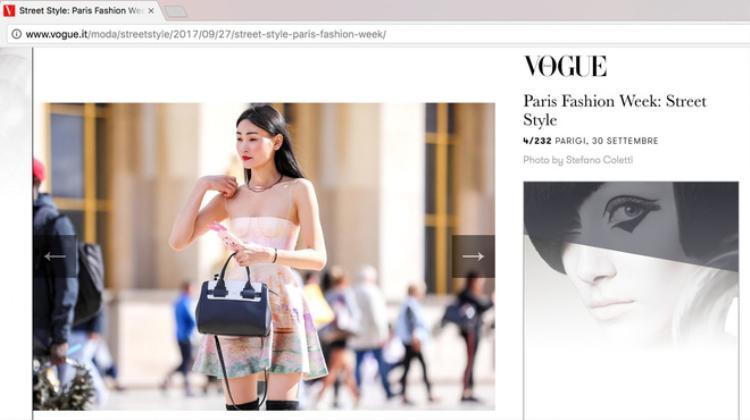 Còn nhớ, chính nhờ bộ cánh này mà bộ cánh này mà Thùy Trang được xuất hiện trong chuyên mục street style đẹp mắt nhất của Vogue Ý.