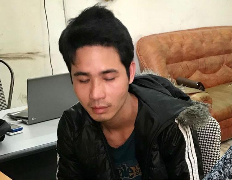 Nguyễn Xuân Hiếu tại cơ quan Công an.