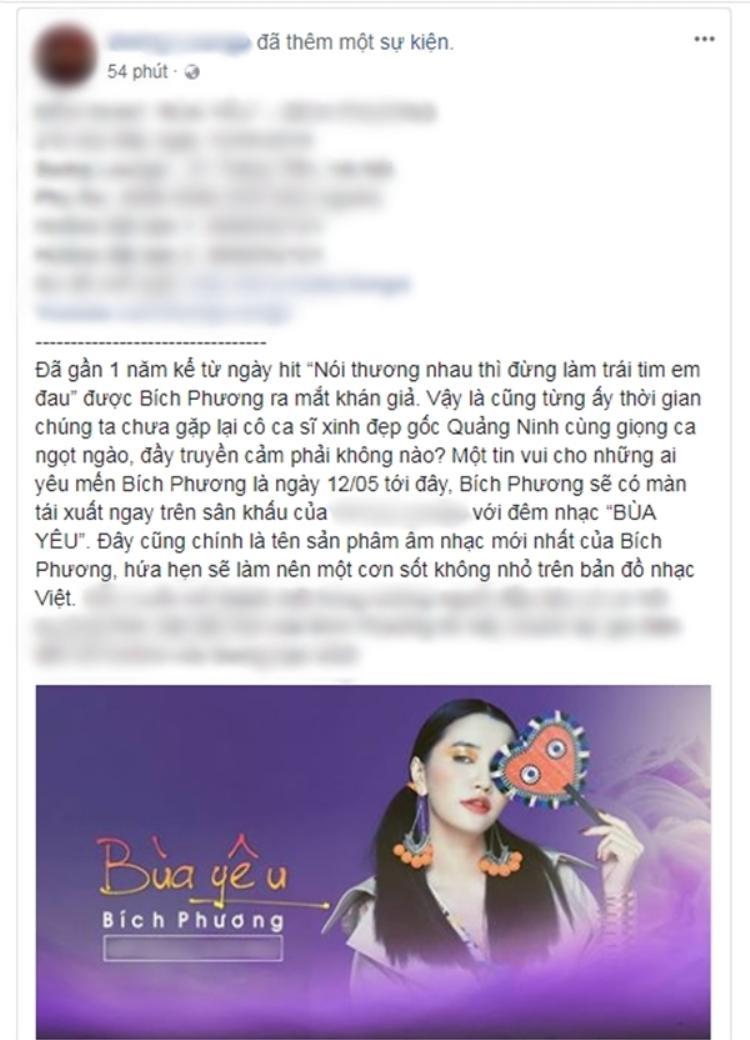 Tên sản phẩm mới của Bích Phương được hé lộ là Bùa yêu.
