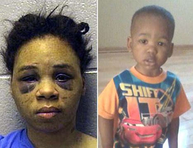 Lakeshia Baker và con trai 1 tuổi.