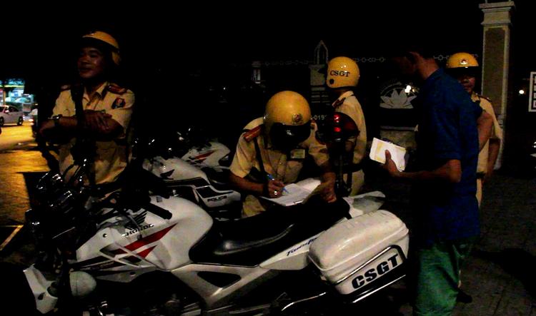 Lực lượng CSGT quận Gò Vấp thường xuyên tuần tra trên các tuyến đường ở địa bàn.