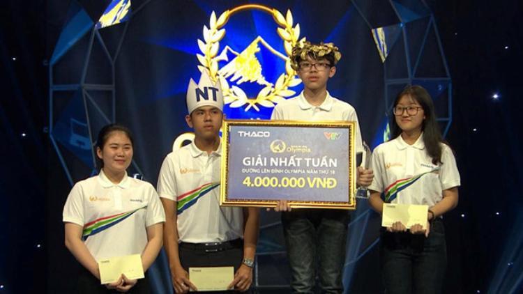 Nguyễn Tiến Quang xuất sắc giành giải nhất Tuần.