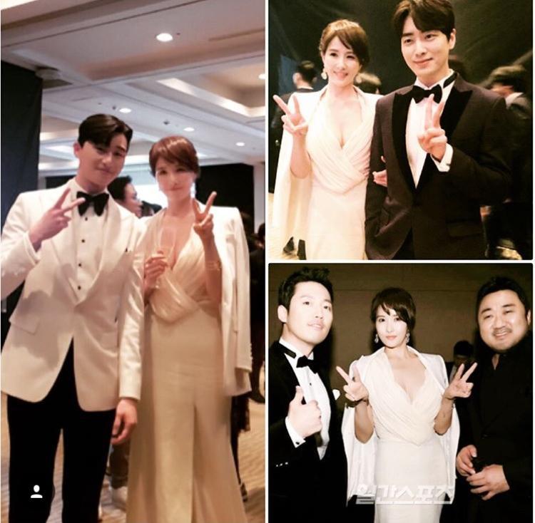 """""""Mẹ Kim Tan"""" Kim Sung Ryong và Jang Hyuk đã """"like"""" bài đăng của Kim Sun Ah. Hoa hậu, diễn viên Park Si Yeon bình luận: """"Đẹp quá chị ơi""""."""