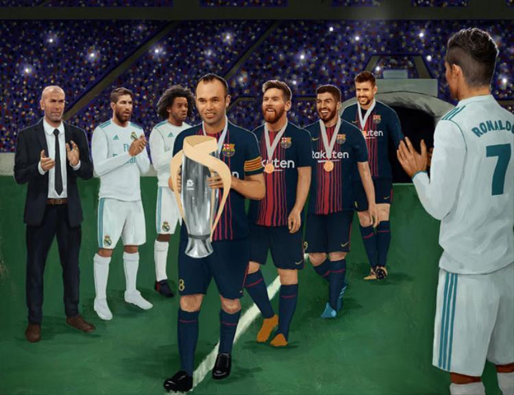 Real Madrid bị mỉa mai vì không chào đón tân vương Barcelona.