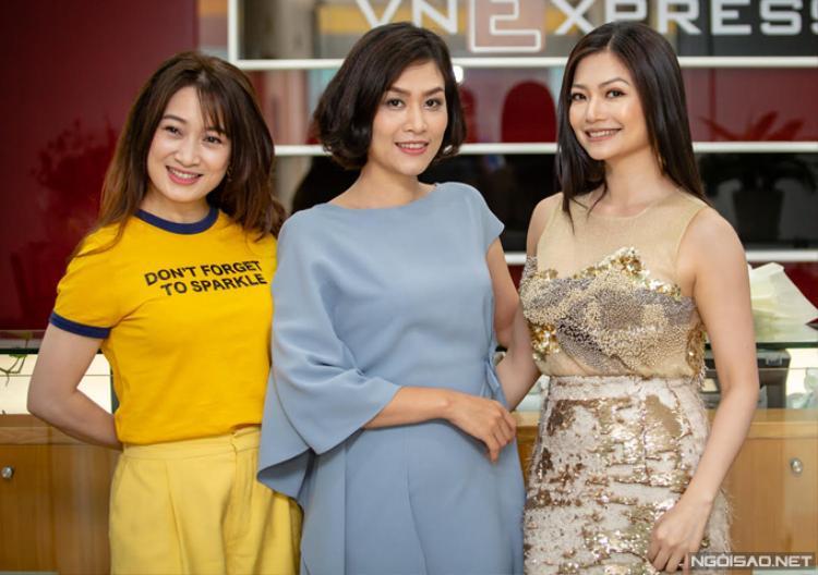 Ba diễn viên chính Thu Nga - Hà Hương - Kiều Anh.