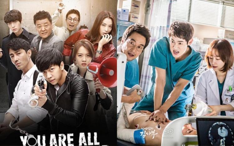 """Bộ phim truyền hình hấp dẫn """"You're All Surrounded"""" và """"Romantic Doctor Kim""""."""