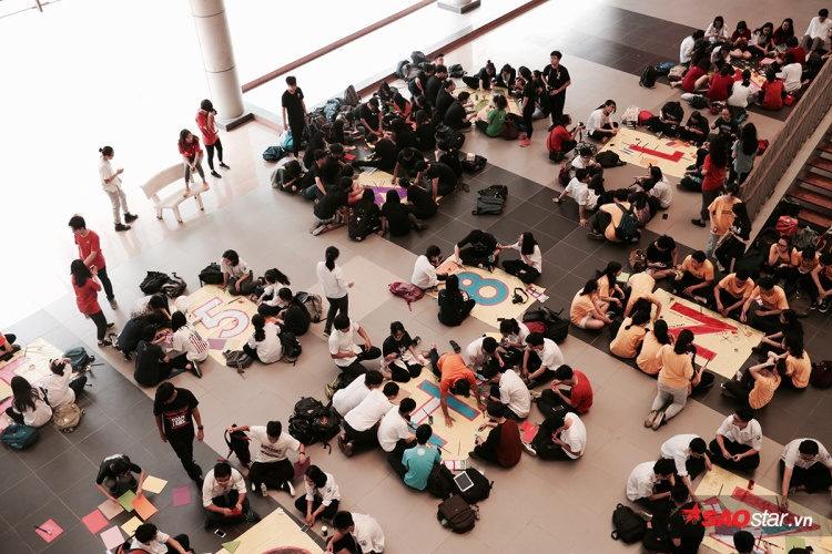 500 học sinh lớp 12 trường THPT chuyên Hà Nội - Amsterdam chung tay vẽ nên dòng chữ MADE IN 12 - Hạ Nhiên