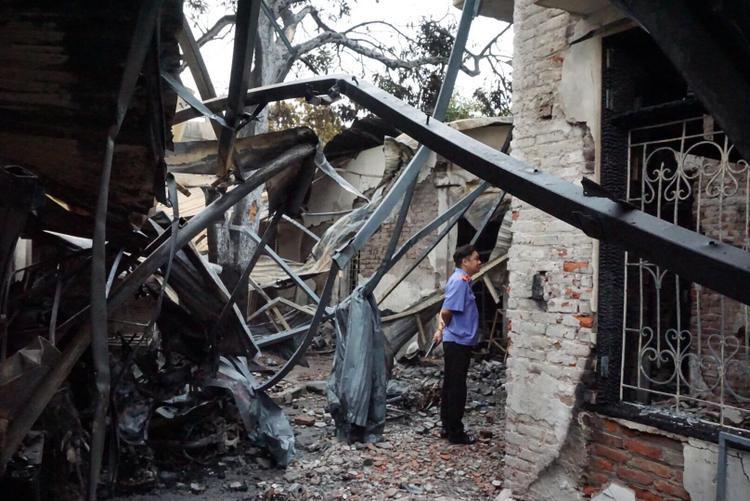 Toàn bộ tài sản bên trong bị cháy rụi.