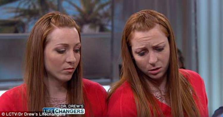 Cặp chị em song sinh tham gia chương trình cảm thấy vô cùng sốc và sợ hãi sau khi tận mắt chứng kiến hình ảnh so sánh giữa hai lá gan người khỏe mạnh và người nghiện rượu.