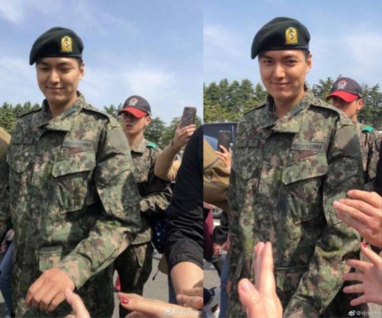 """Lee Min Ho """"lên đường"""" tham gia nghĩa vụ quân sự vào ngày 12/5 năm ngoái, dự kiến sẽ xuất ngũ vào tháng 5/2019."""