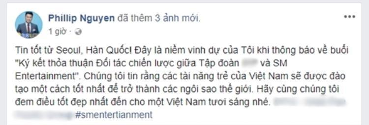 Phillip Nguyễn kí kết hợp đồng với SM: Có thể SM Town sẽ ghé Việt Nam?