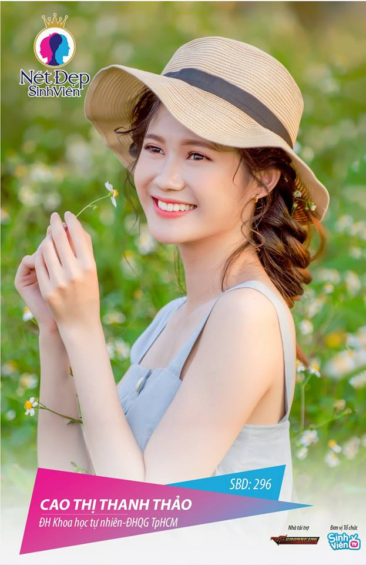 Cao Thị Thanh Thảo, sinh viên trường Đại học Khoa học Tự nhiên với vẻ đẹp trong sáng, thuần khiết