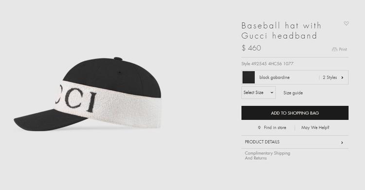Được biết, chiếc mũ bassball này hiện đang được bán với mức giá 460$ - tầm 10,6 triệu đồng, một con số chẳng hề nhỏ tí nào.