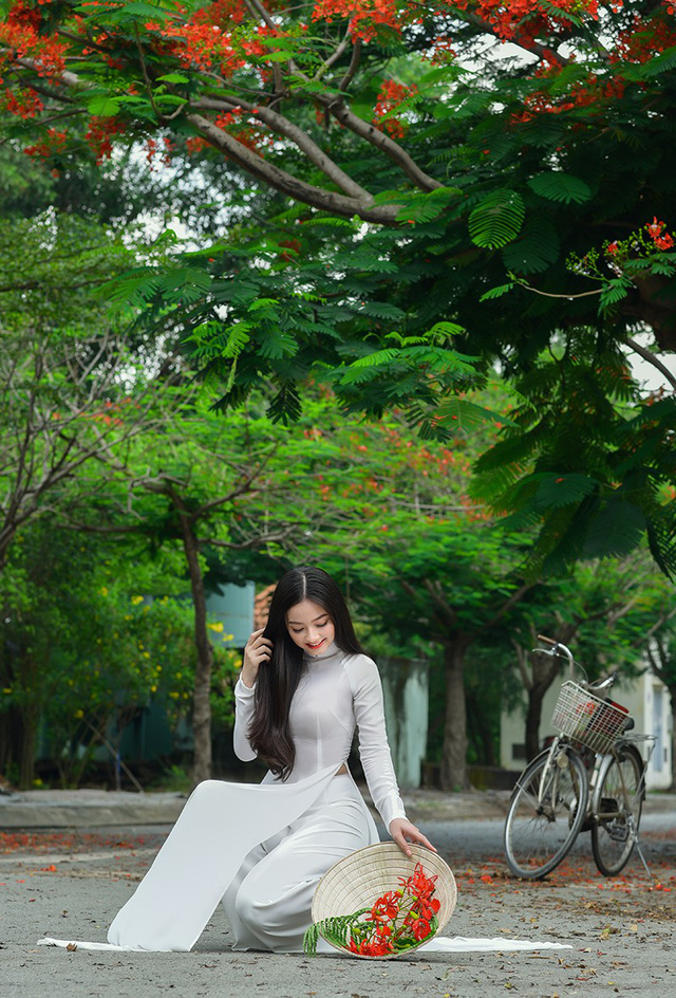 Xao xuyến tà áo trắng nữ sinh khi mùa phượng vĩ về