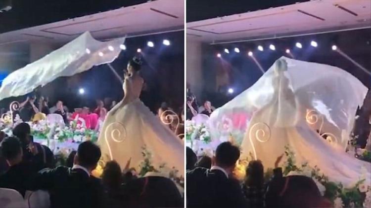 Cơn sốt 'khăn voan bay' trong đám cưới ở Trung Quốc