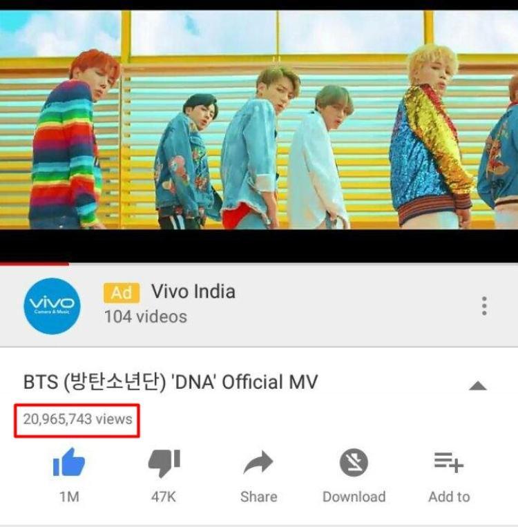 Nếu áp dụng cách tính theo kiểu nhả view này thì chắc chắn MV DNA của BTS không chỉ dừng ở con số 20,9 triệu view. Và các MV Kpop khác cũng vậy.