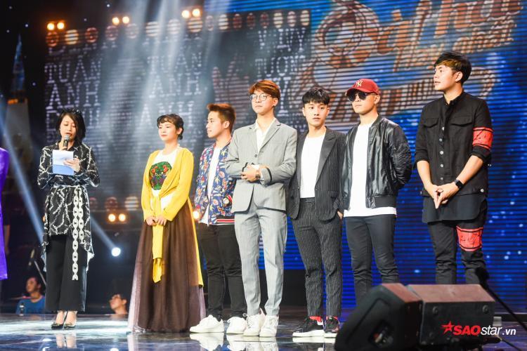 Bảng 2: Khánh Ly, Đình Khương, Juun - RTee, Gin Tuấn Kiệt, Andiez.