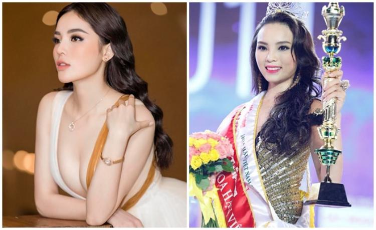 Từ sau cuộc thi Hoa hậu Việt Nam 2014, phong cách thời trang của Kỳ Duyên ngày càng gợi cảm.