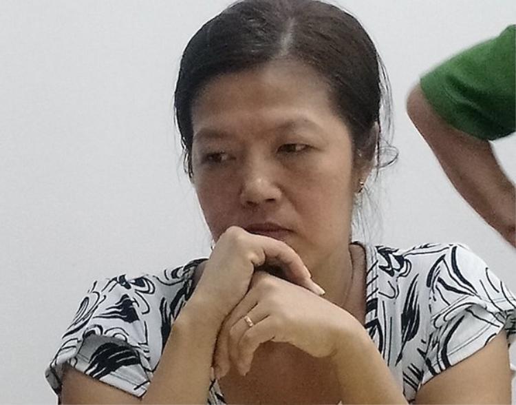 Đối tượng Thảo tại cơ quan công an. Ảnh Vietnamnet.