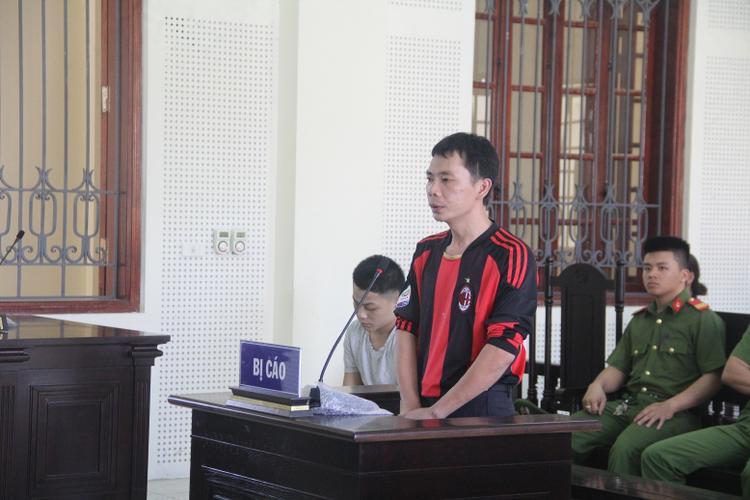 Bị cáo Bé tại phiên tòa