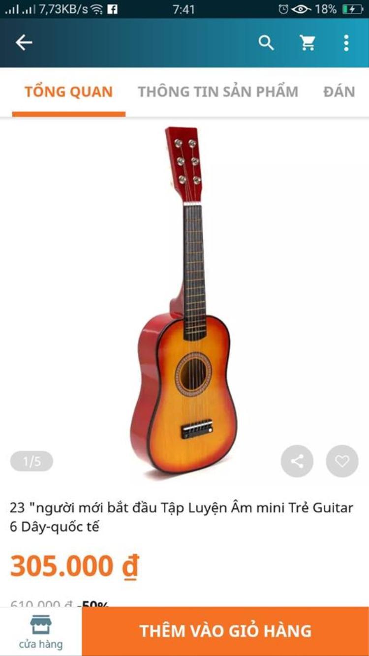 Đặt đàn guitar nào ngờ nhận được phiên bản mini của mini, anh chàng khóc cạn nước mắt còn dân mạng cười rụng rốn