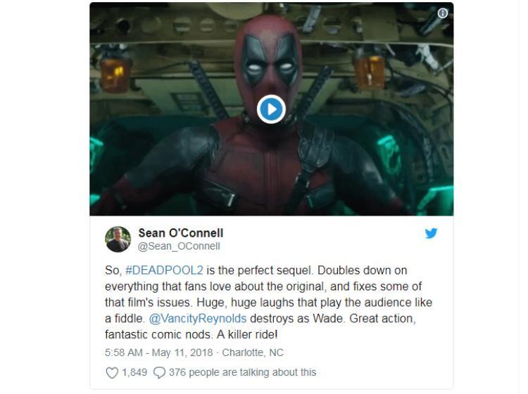 Đây là phản ứng của khán giả sau khi xem Deadpool 2