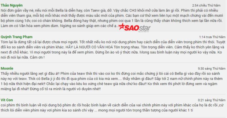 Fan khẩu chiến dữ dội khi Taew Natapohn bị chê già, diễn xuất thua xa Bella Ranee