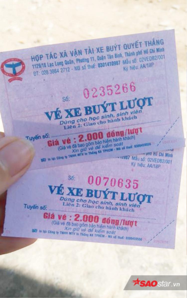 Vé xe buýt dành cho sinh viên chỉ có 2.000 đồng/ lượt.