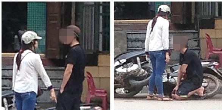 Trước đó, trên mạng xã hội cũng từng xôn xao câu chuyện một chàng trai lăng nhăng bị bạn gái phát hiện nên phải quỳ xuống xin lỗi giữa đường, trước sự ngạc nhiên của mọi người xung quanh.