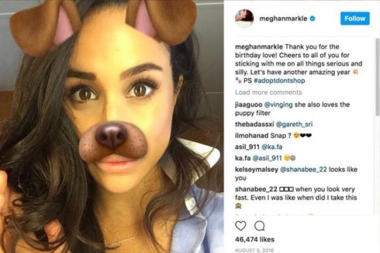 Cô cũng sẽ không được chụp hình tự sướng. Nguồn: Instagram/Meghan Markle